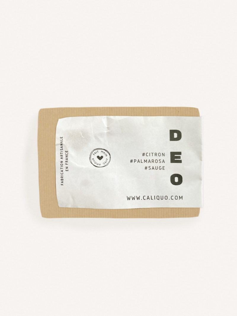 déodorant solide senteur citron de la marque caliquo. Zéro déchet et made in france