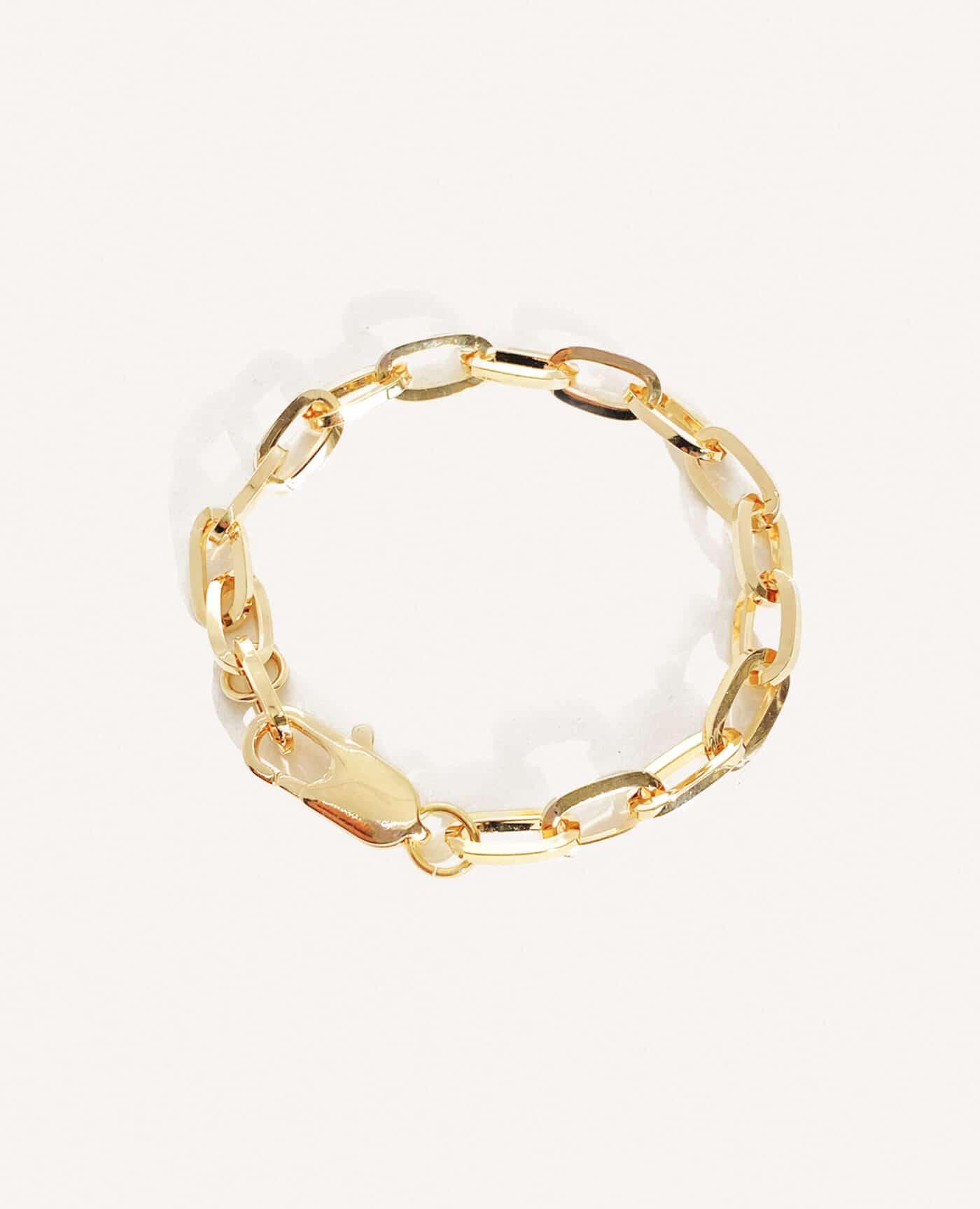 Bracelet Mina gourmette grosse maille en or de la marque Luj Paris