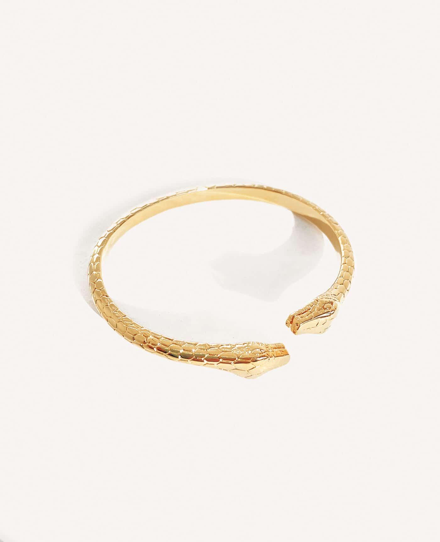 Bracelet Vicky jonc serpent double tête de la marque Luj Paris