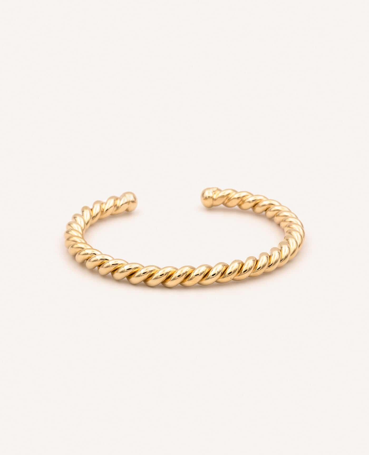 Bracelet Judith torsadé jonc 2 tresses de la marque Luj Paris