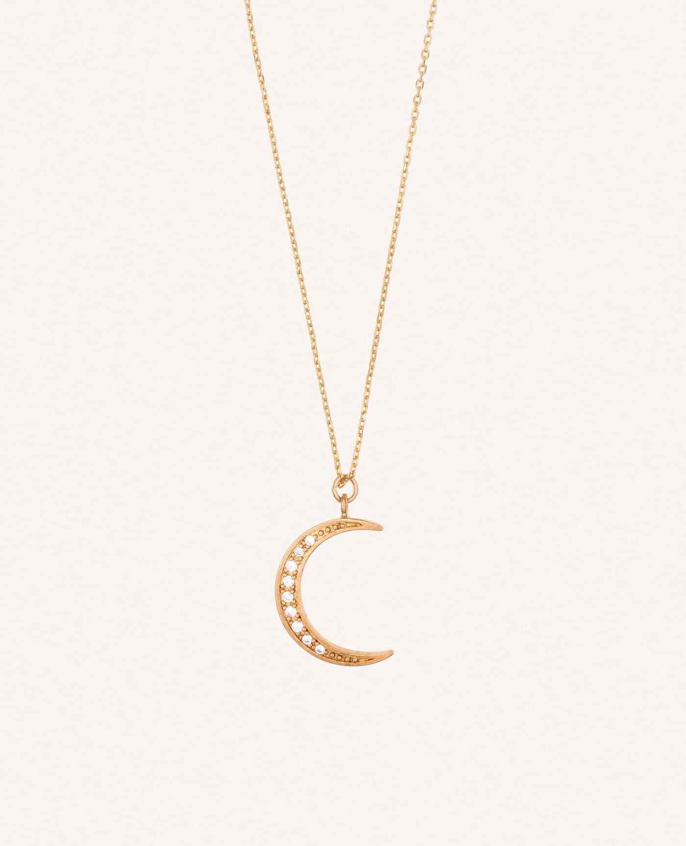 Collier Fanny en or en forme de lune de la marque Luj Paris