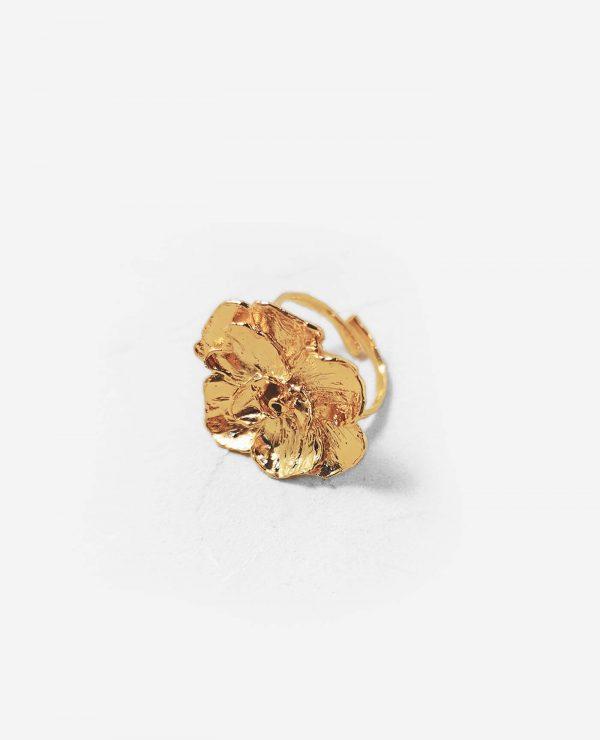 Bague Prahana en forme de fleur en or fairmined de la marque Elise Tsikis made in france
