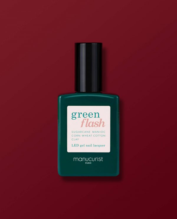 Vernis à ongles bio semi-permanent green flash de la marque Manucurist made in france de couleur bordeaux dark pansy