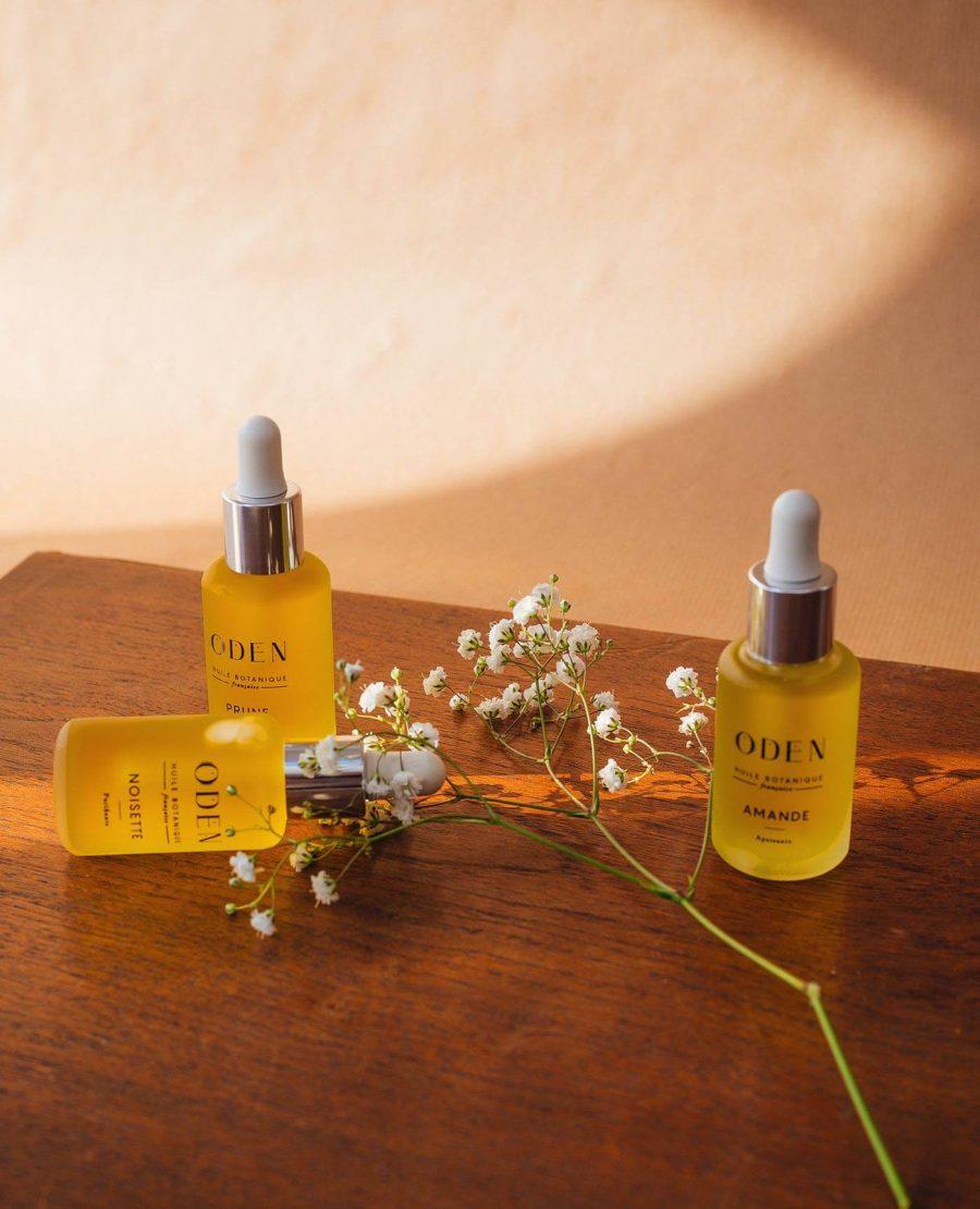 huiles botaniques françaises naturelles vegan de la marque Oden