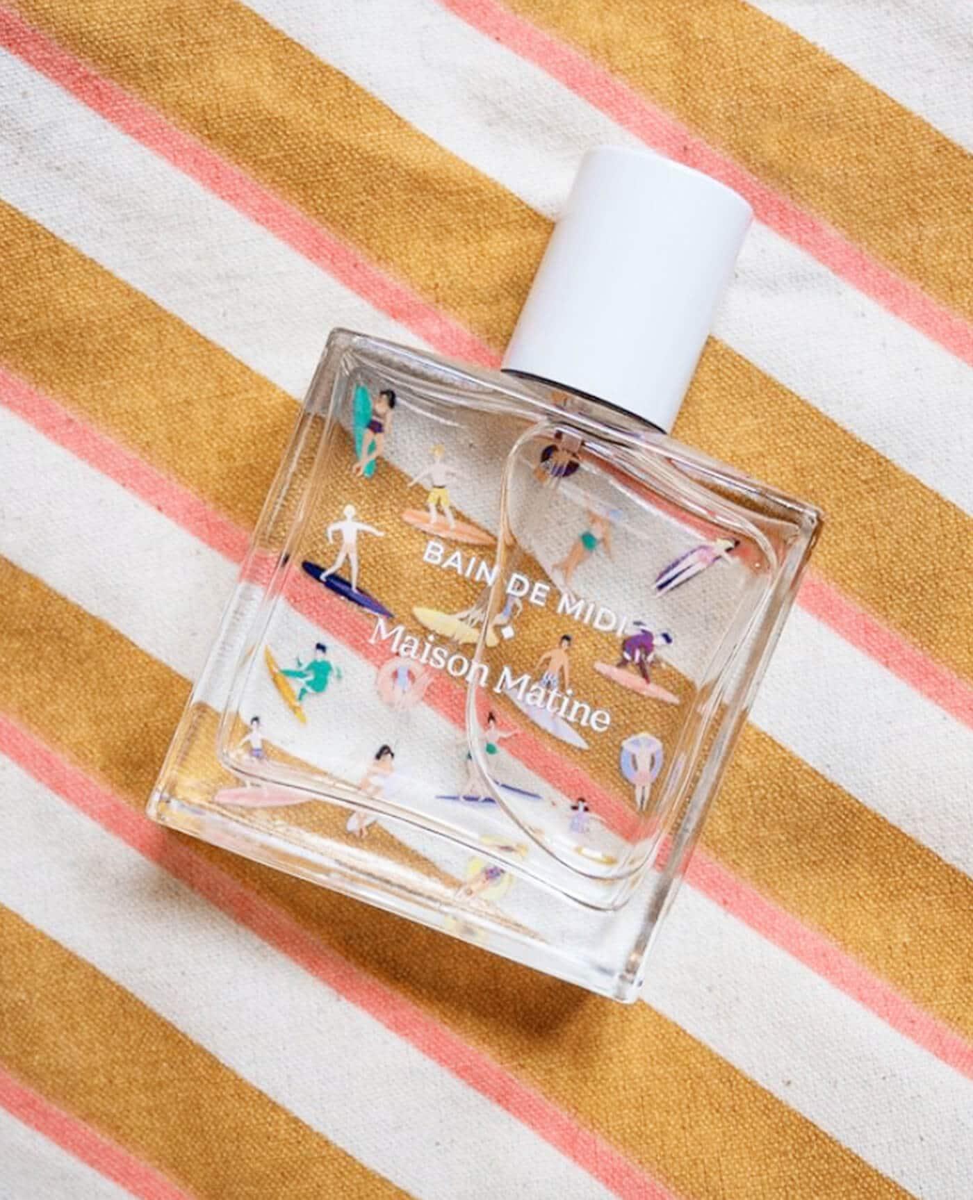 Parfum naturel bain de midi vegan à l'alcool bio de la marque Maison Matine made in France