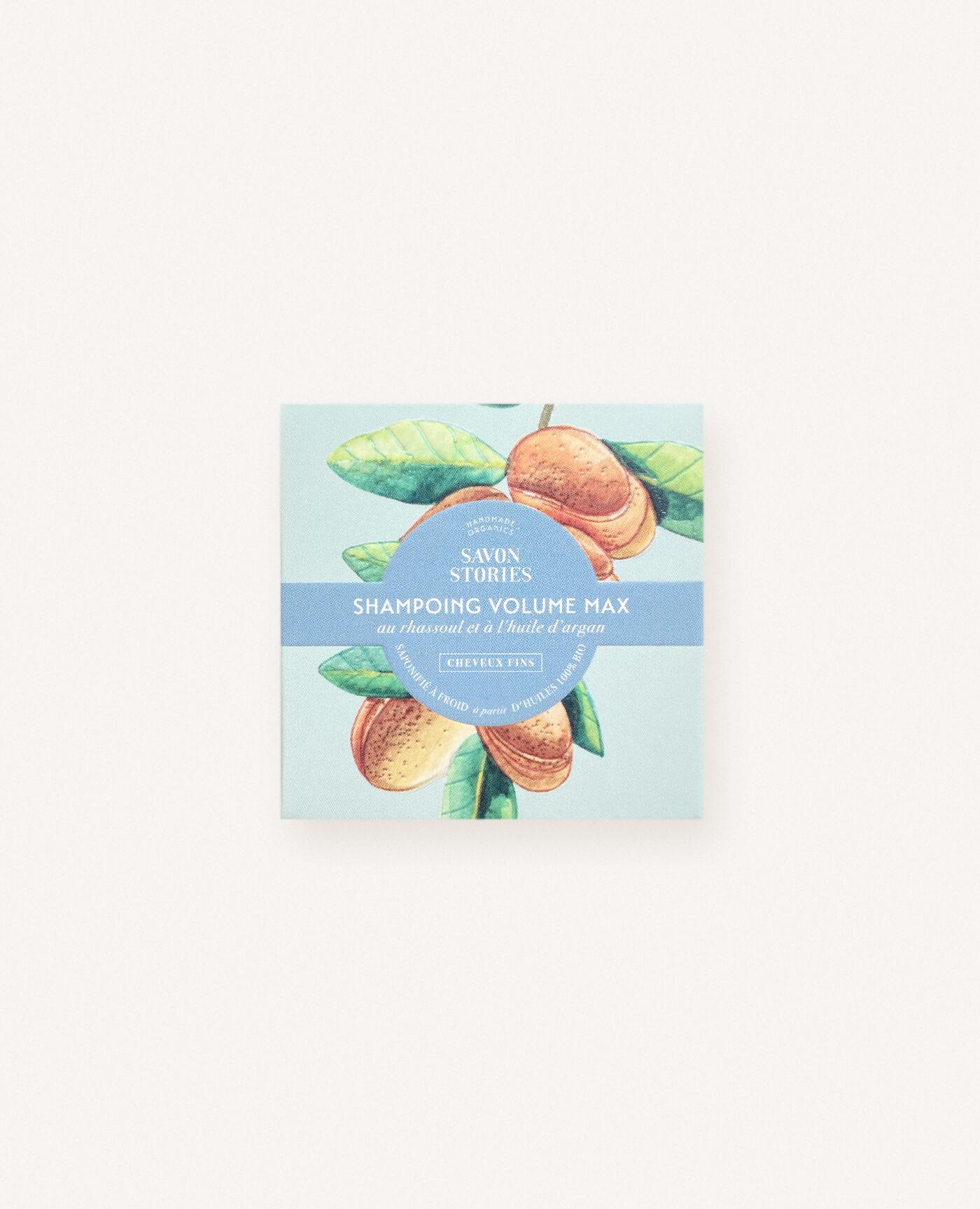 Shampoing solide bio, naturel et vegan au rhassoul pour les cheveux gras de la marque Savon Stories made in france