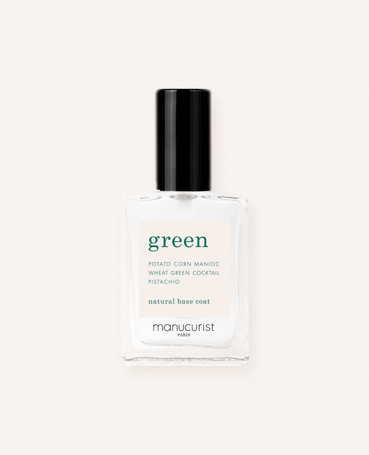 Base coat bio pour vernis green de la marque Manucurist made in france