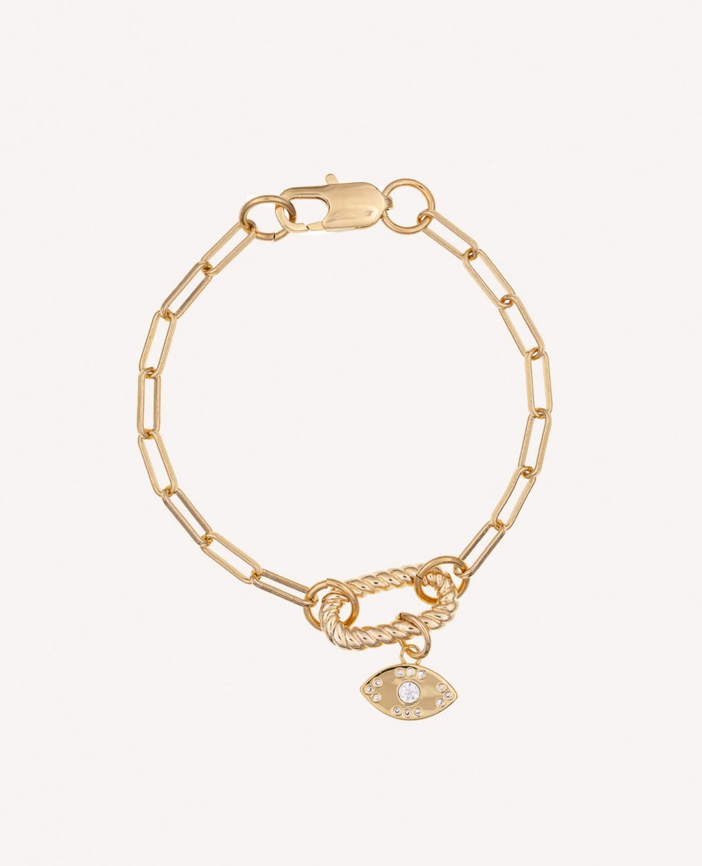 Bracelet Garance en or avec oeil de la marque Luj Paris