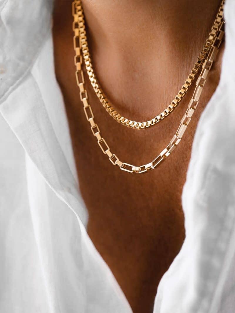 Collier Venise ras de cou en maille venitienne de la marque Luj Paris