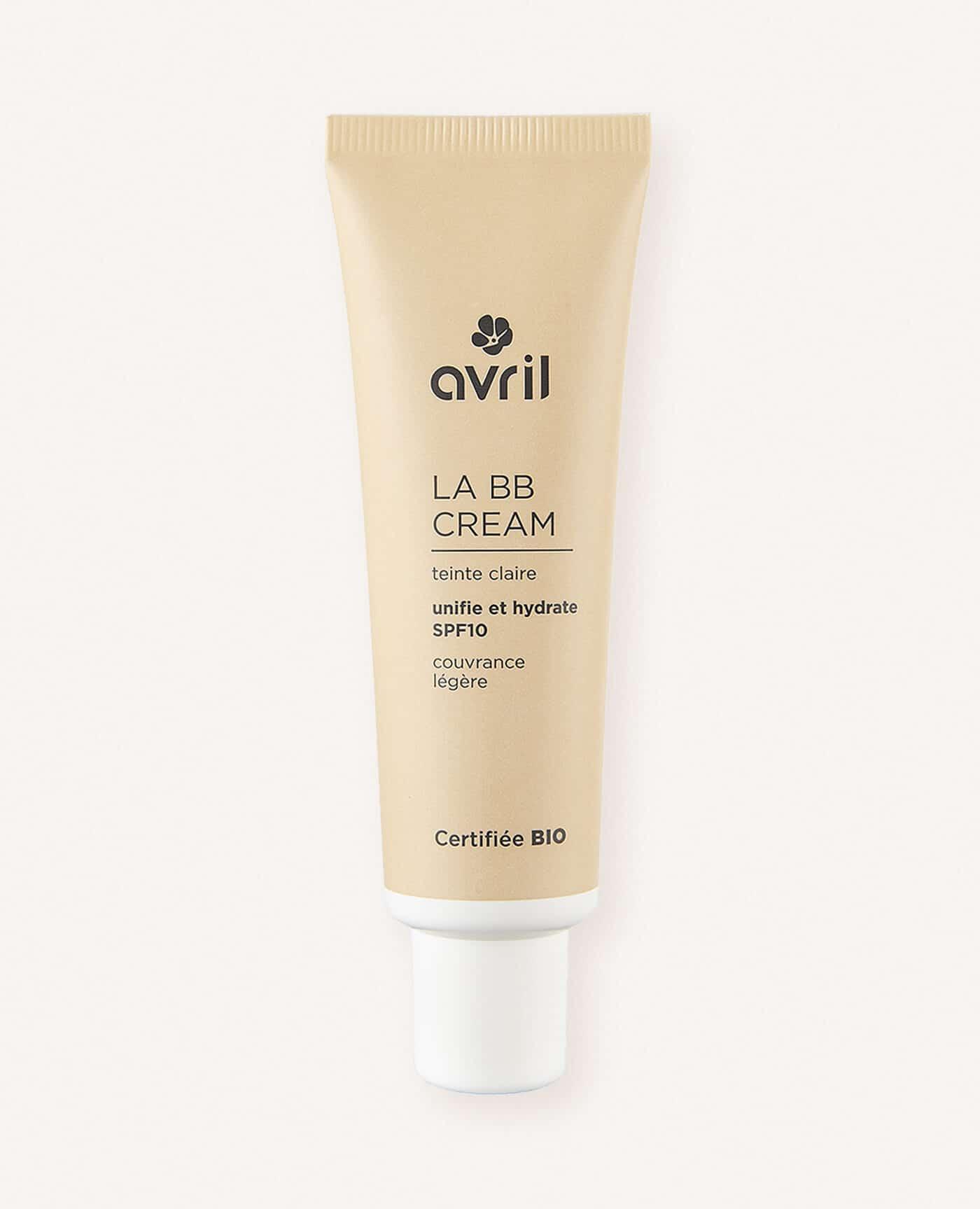 BB créme bio, naturelle et vegan de teinte claire de la marque Avril cosmétiques made in France