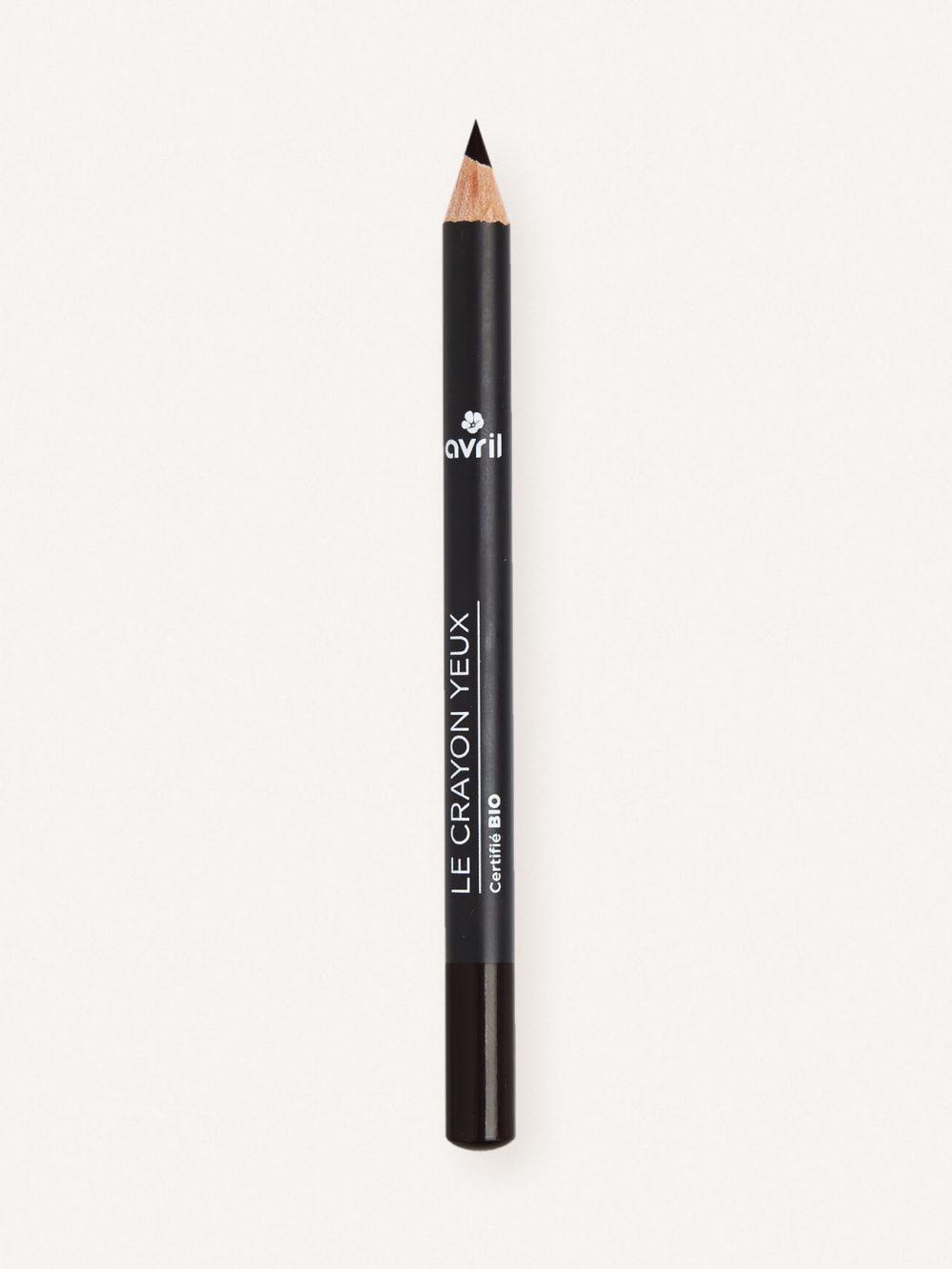 Crayon yeux bio de couleur noir charbon, naturel et vegan de la marque Avril cosmétiques made in France