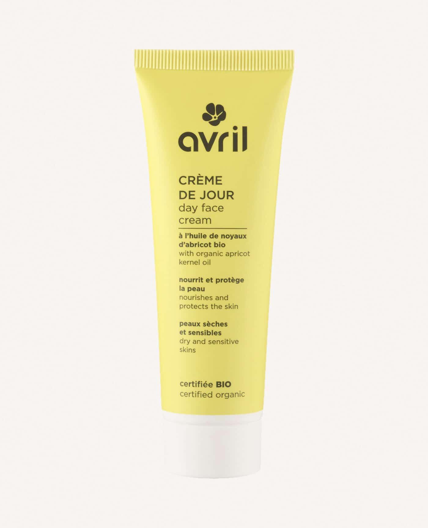 Créme de jour bio, naturelle et vegan pour les peaux sèches et sensibles de la marque Avril cosmétiques made in france
