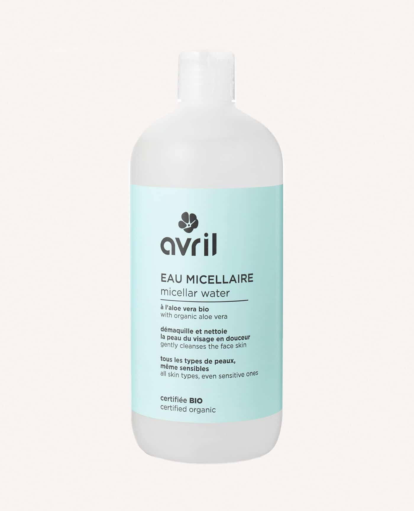Eau micellaire bio, naturelle et vegan de la marque Avril cosmétiques made in france