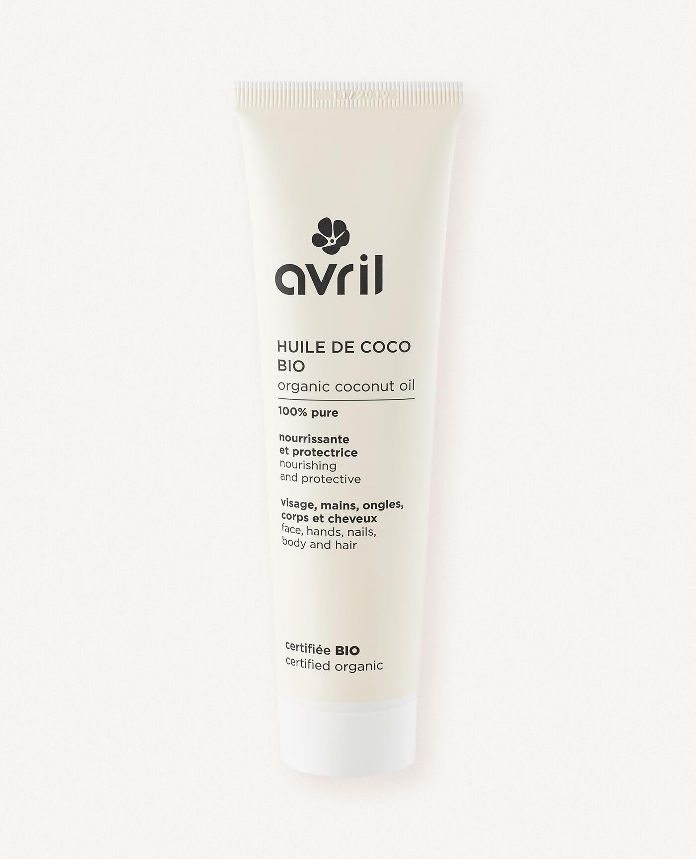 Huile de coco bio, naturel et vegan de la marque Avril cosmétiques made in France