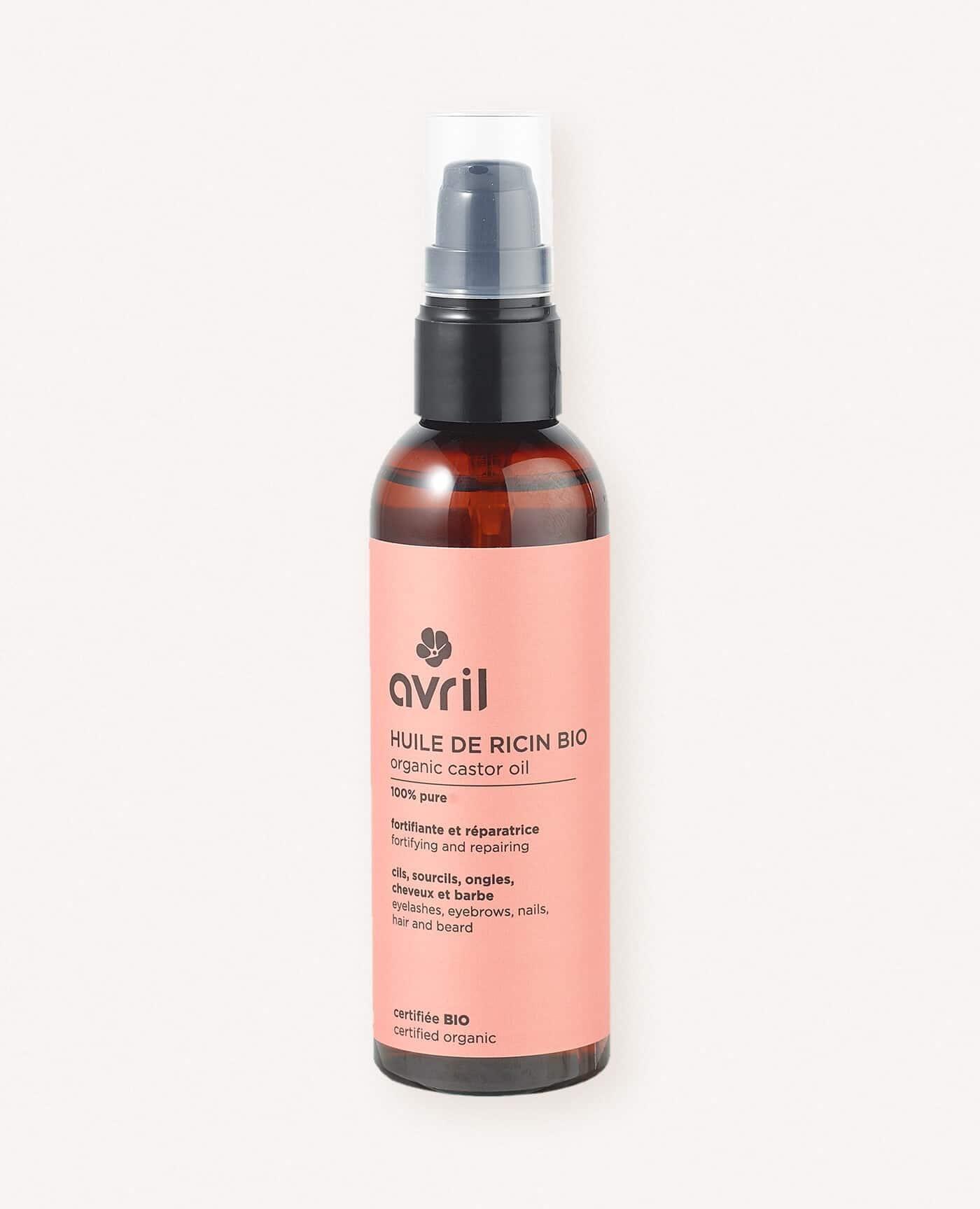 Huile de ricin bio, naturel et vegan de la marque Avril cosmétiques made in France