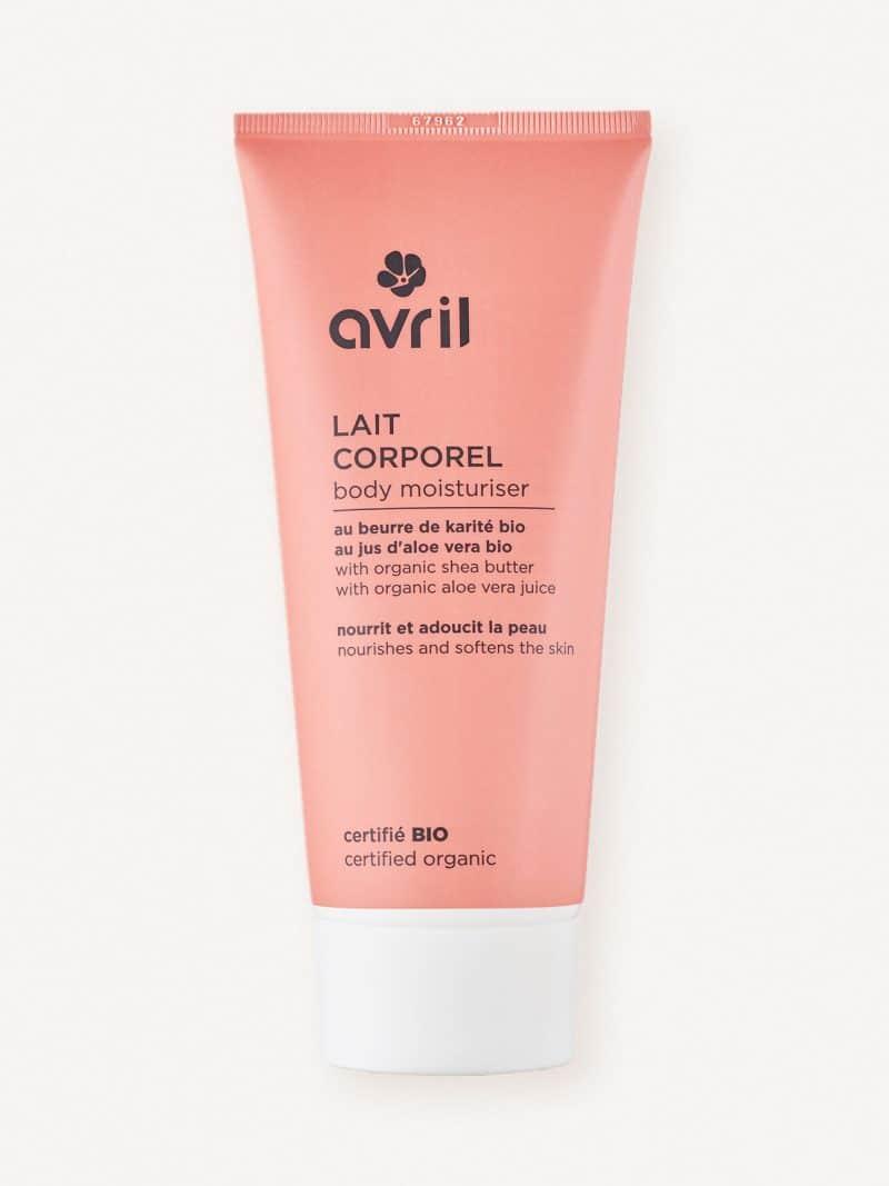 Lait corporel bio, naturel et vegan de la marque Avril cosmétiques made in France