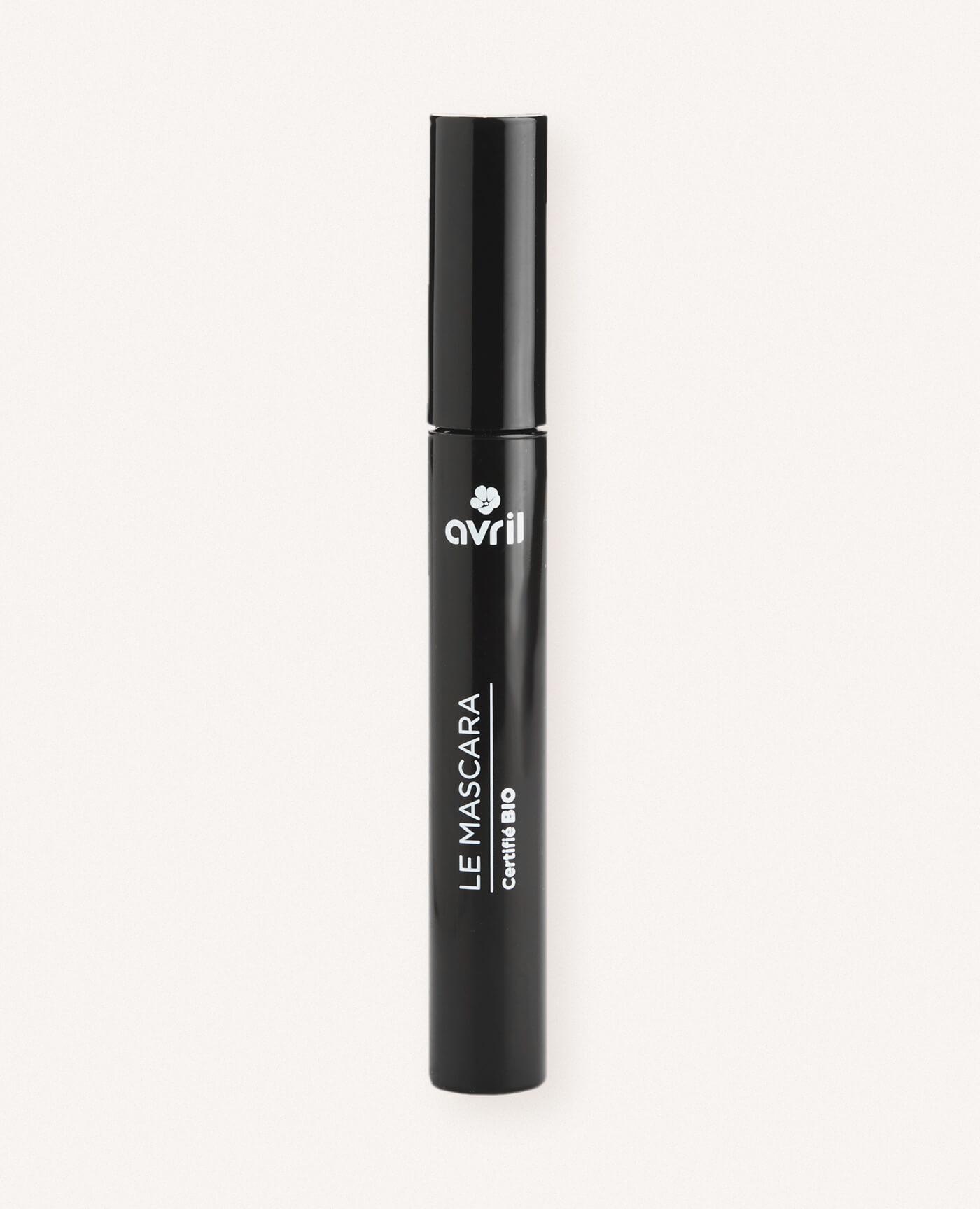 Mascara bio longue durée de couleur noir de la marque Avril cosmétiques made in france