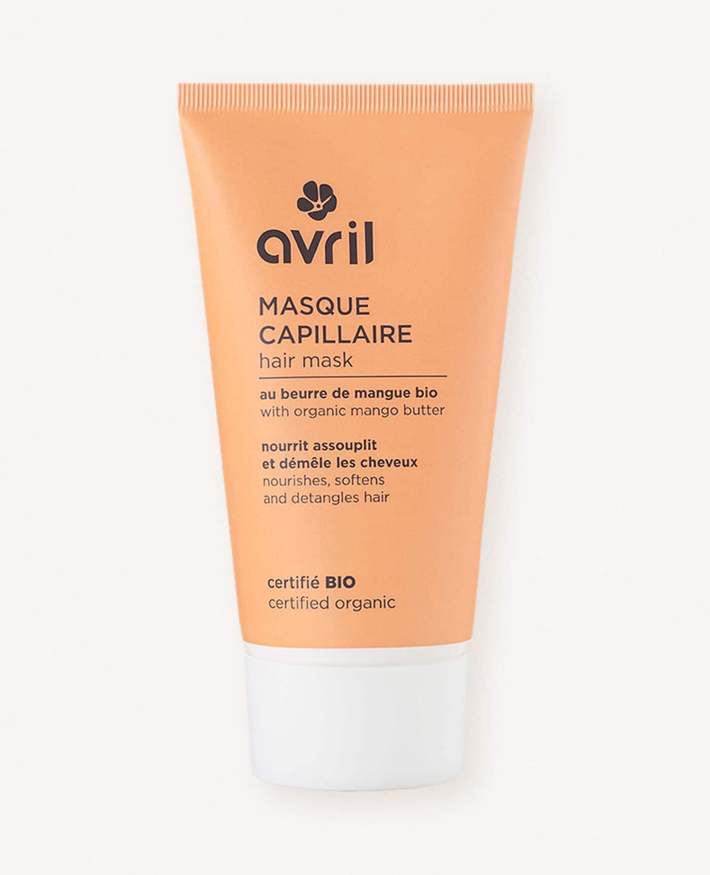 Masque capillaire bio, naturel et vegan de la marque Avril cosmétiques made in France