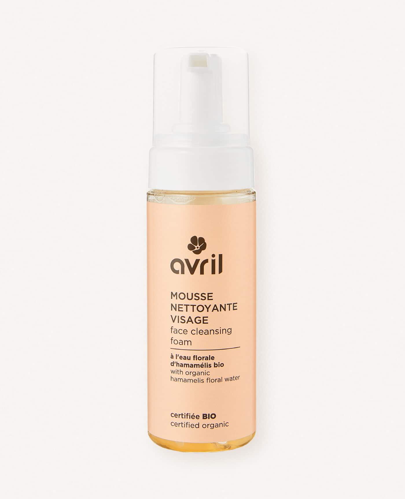 Mousse nettoyante visage bio, naturel et vegan de la marque Avril cosmétiques made in France