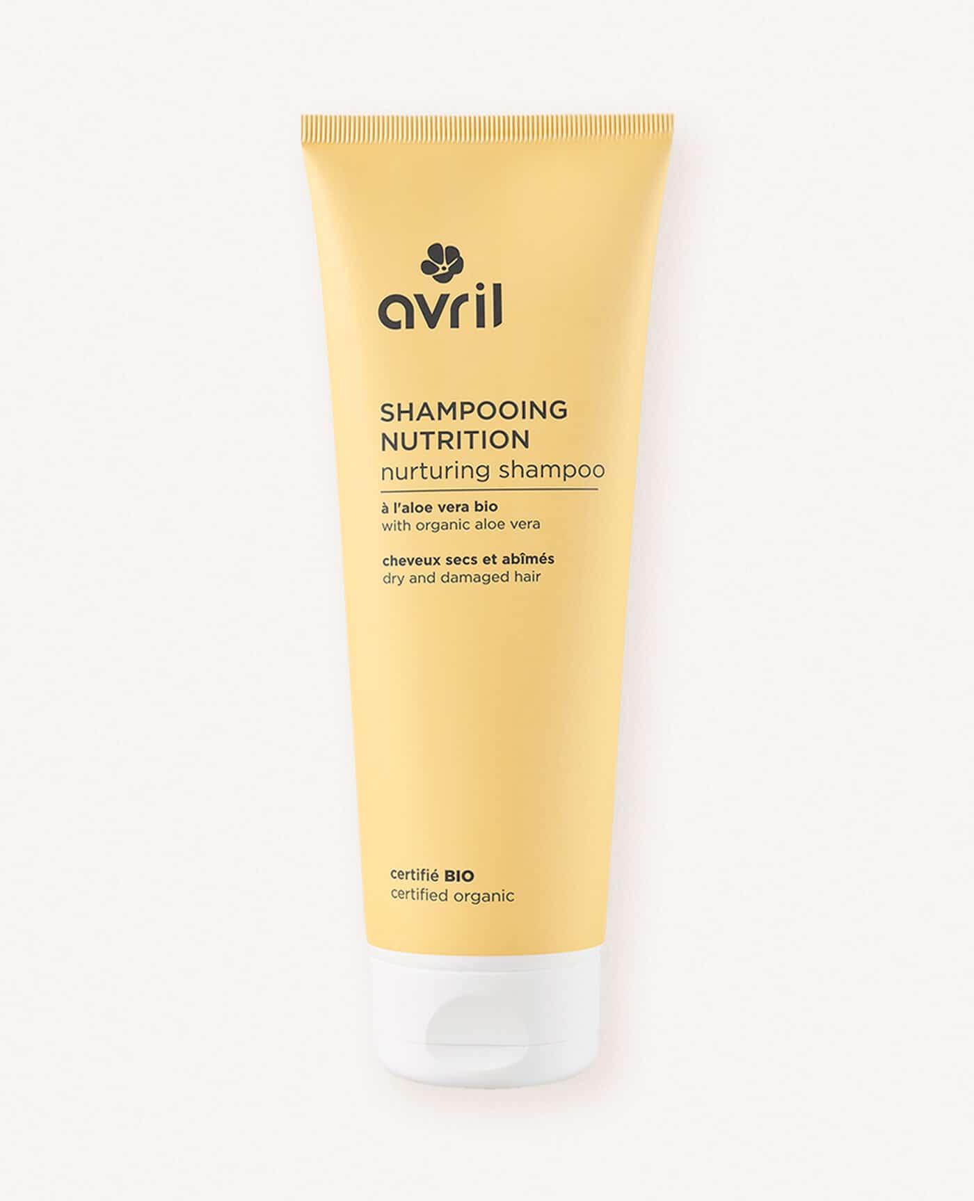 Shampoing nutrition bio, naturel et vegan de la marque Avril cosmétiques made in france