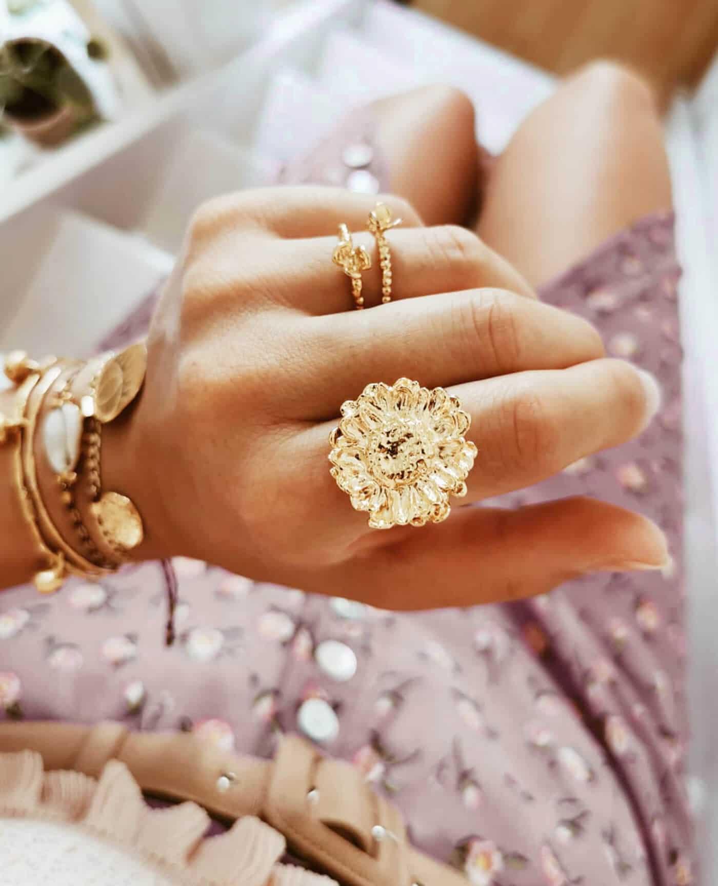 Bague fleur Ansou de la marque Elise Tsikis