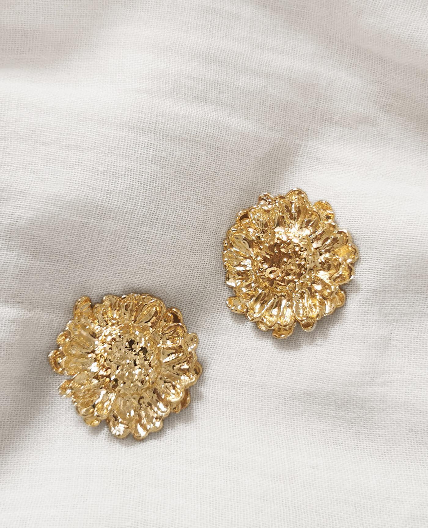 Boucles d'oreilles fleurs Melonne de la marque Elise Tsikis