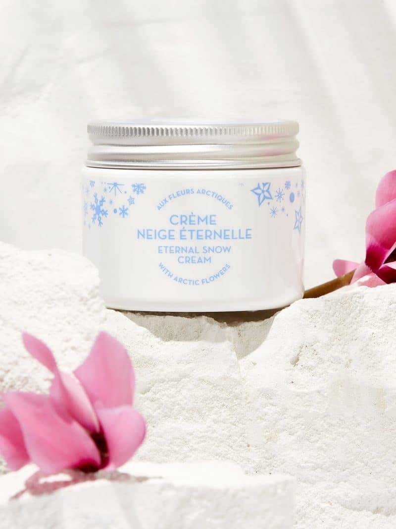 Crème anti-âge naturelle visage neige éternelle aux algues boréales de la marque Polaar