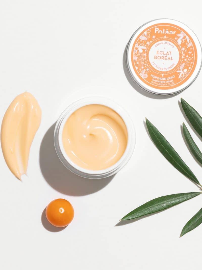 Crème lissante visage naturelle éclat boréal à l'olivier de sibérie de la marque Polaar