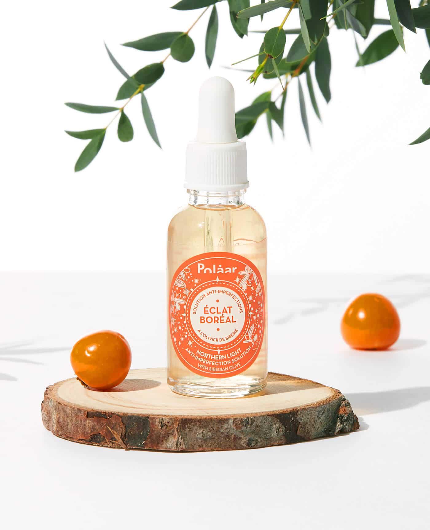 Solution anti imperfections naturelle éclat boréal à l'oliver de sibérie de la marque Polaar
