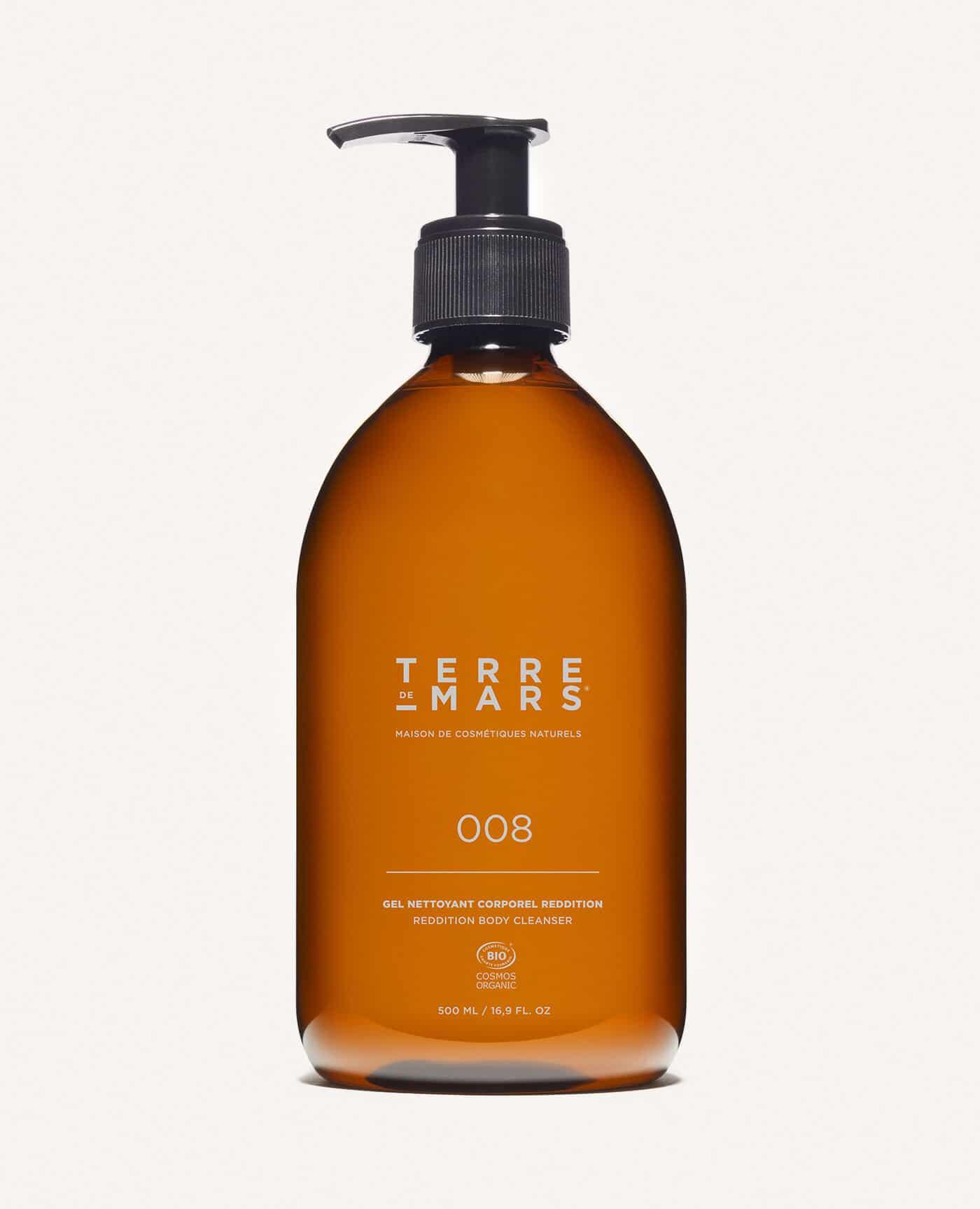 Gel nettoyant corporel bio et vegan reddition pour la douche de la marque Terre de Mars