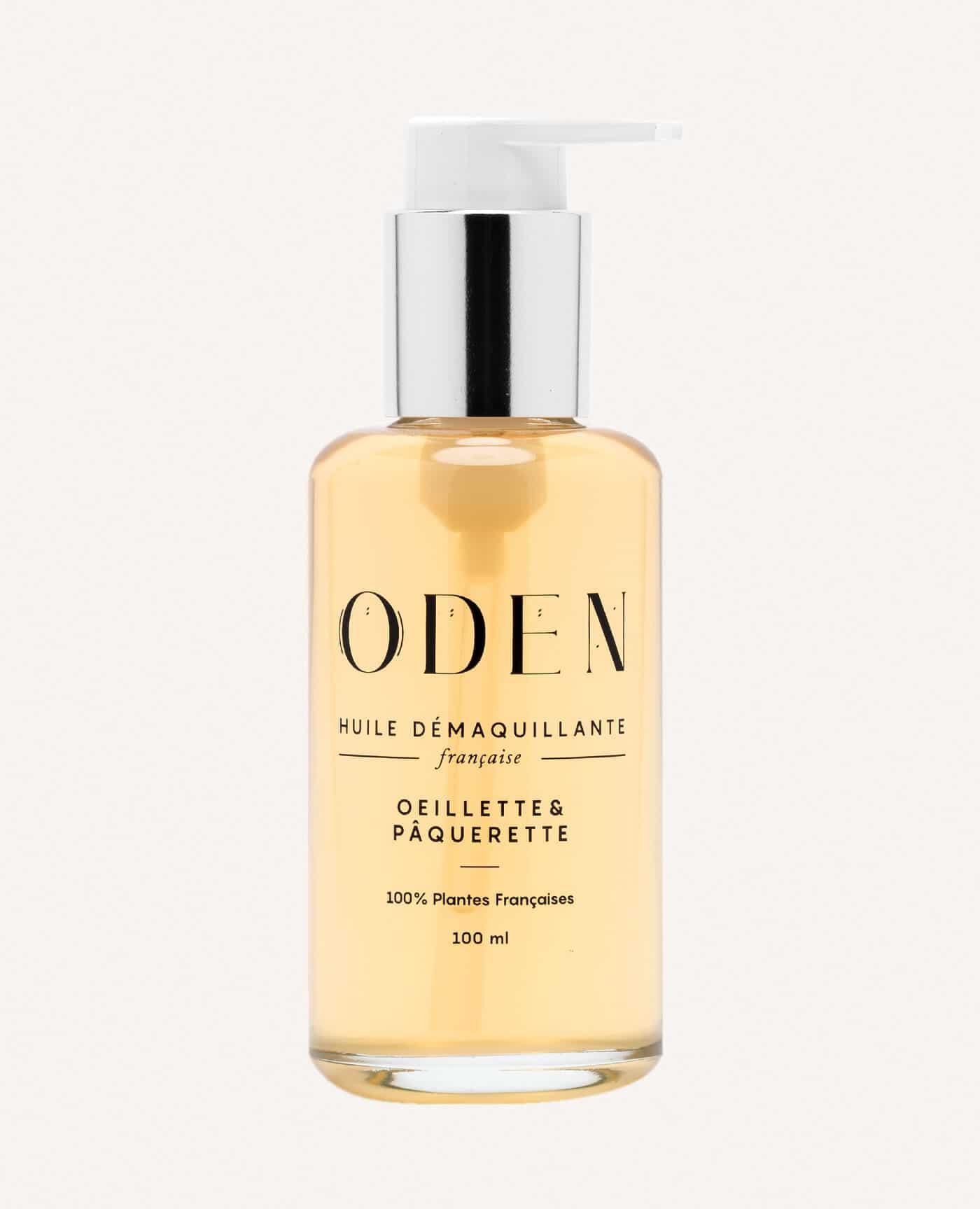 Huile démaquillante française naturelle et vegan de la marque Oden made in france