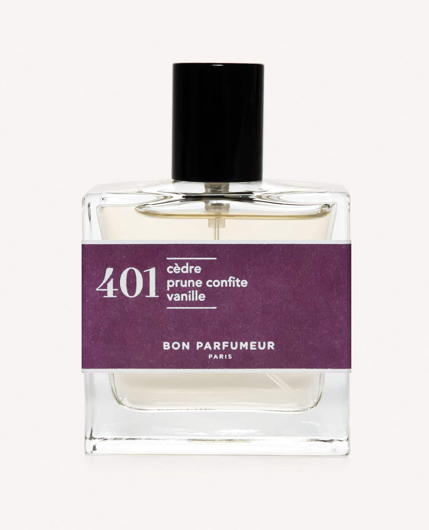 Eau de parfum made in france naturelle de la marque Bon Parfumeur 401 Cèdre, prune confite et vanille