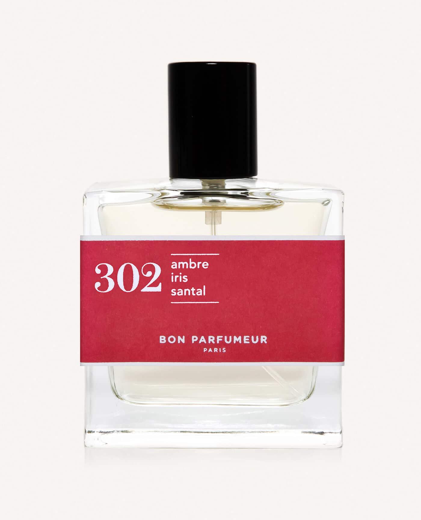 Eau de parfum made in france naturelle de la marque Bon Parfumeur 302 ambre, iris et bois de santal