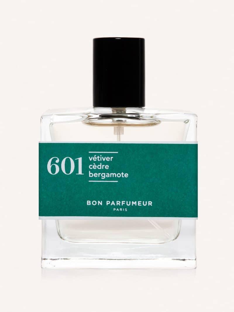 Eau de parfum made in france naturelle de la marque Bon Parfumeur 601 vétiver, cèdre et bergamote