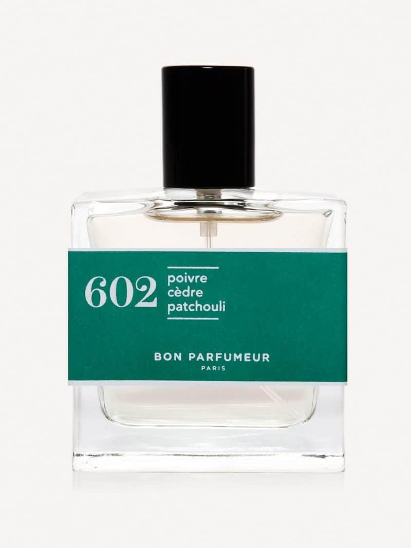 Eau de parfum made in france naturelle de la marque Bon Parfumeur 602 poivre, cèdre et patchouli
