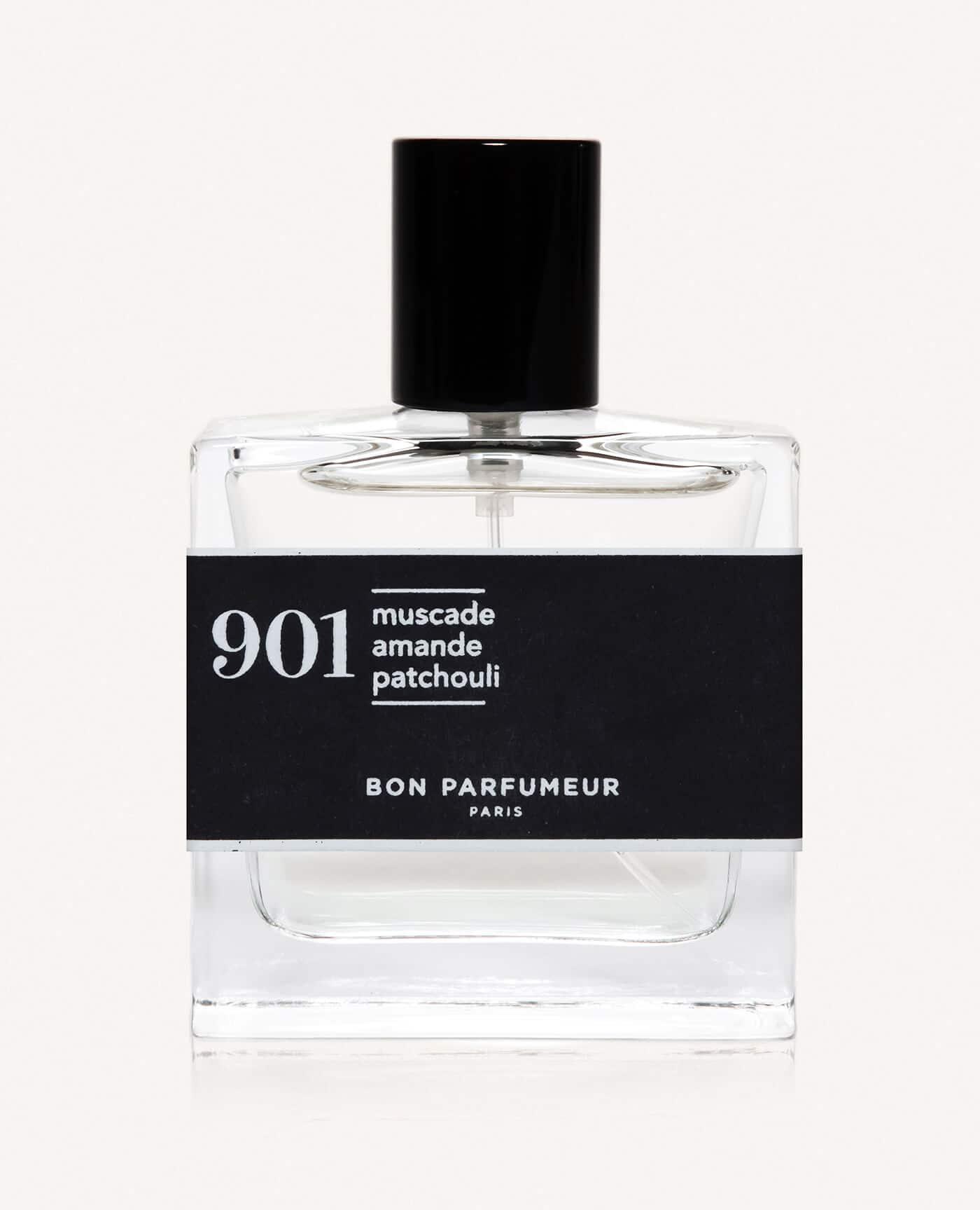 Eau de parfum made in france naturelle de la marque Bon Parfumeur 901 noix de muscade, amande et patchouli
