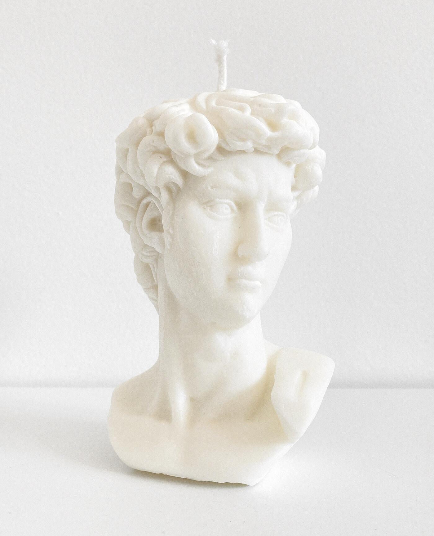Bougie parfumée Le David sculpture vegan de la marque Prose