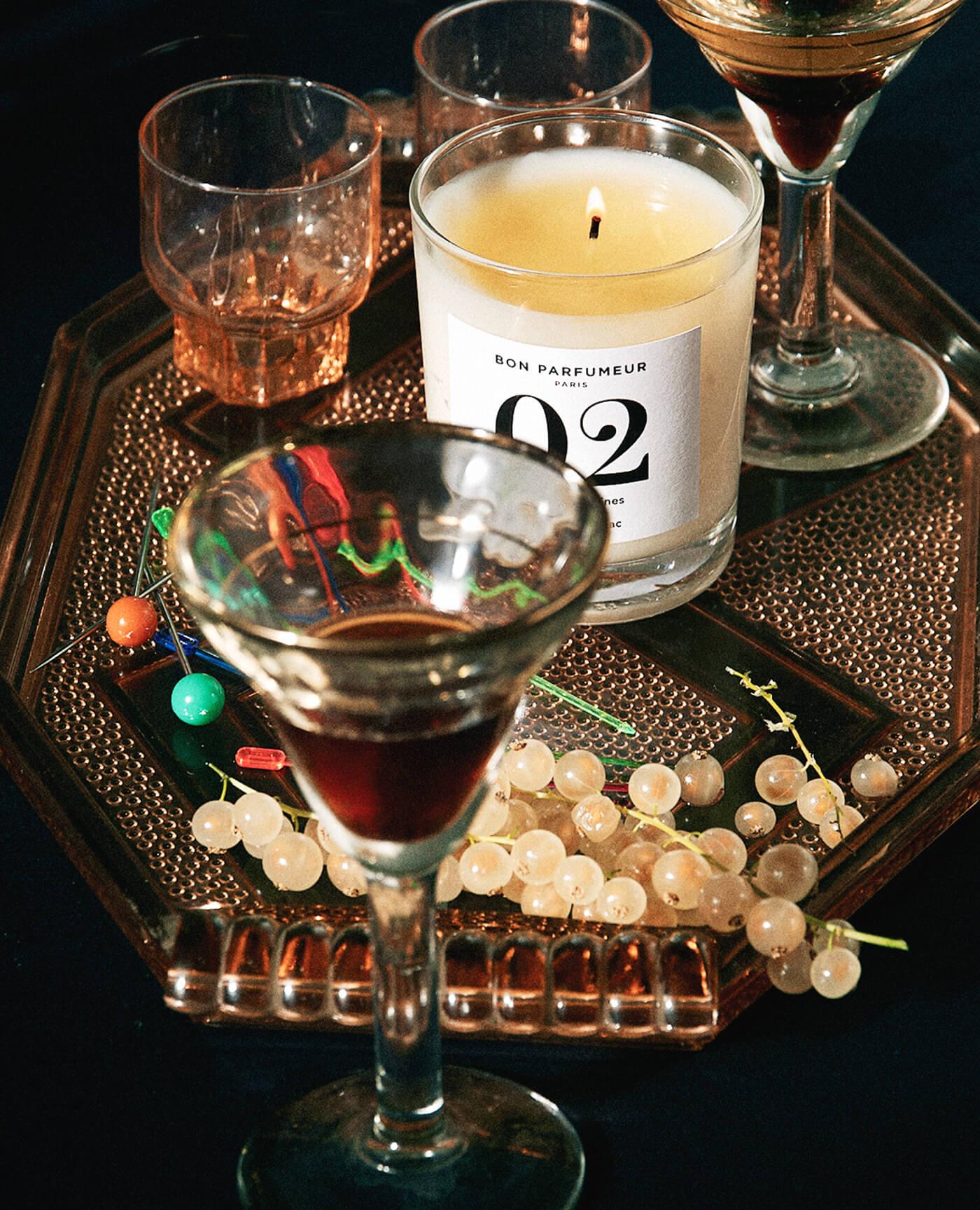 bougie 02 graine de coriandre, miel et feuilles de tabac made in France de la marque Bon parfumeur