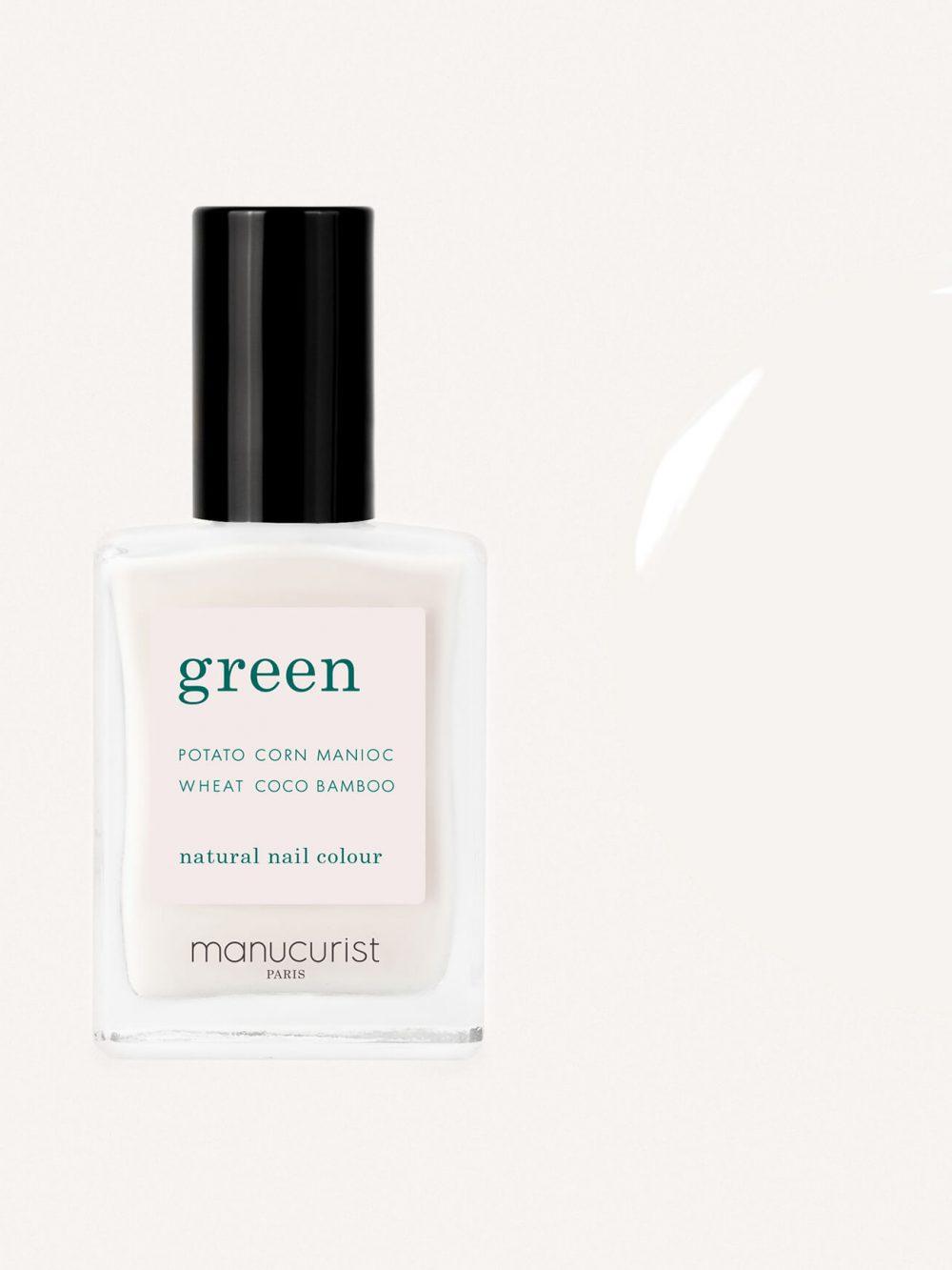 vernis à ongles bio green de la marque Manucurist made in france de couleur blanc milky white