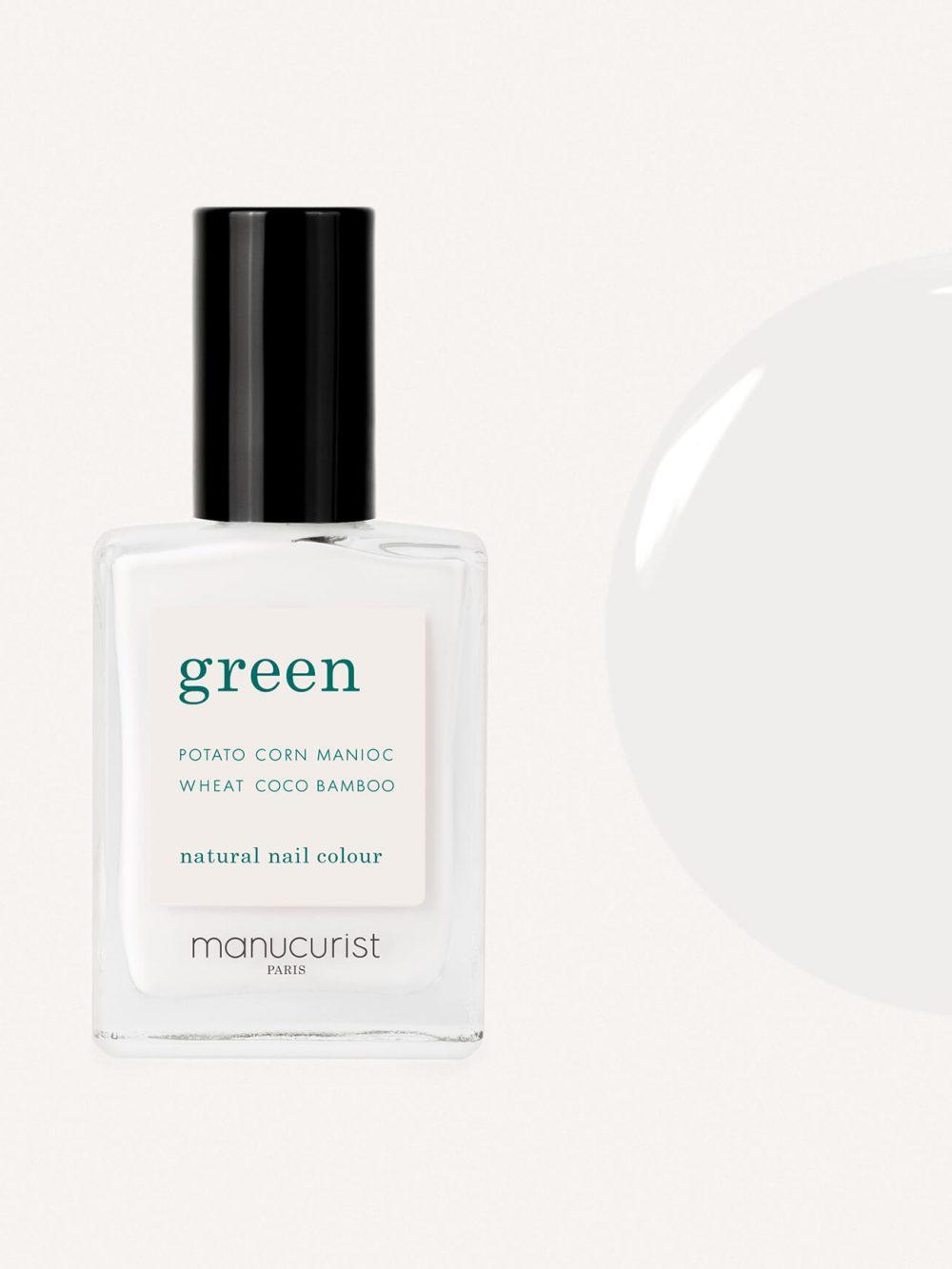vernis à ongles bio green de la marque Manucurist made in france de couleur blanc snow