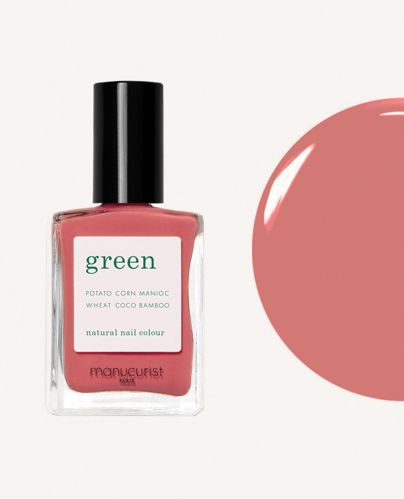 vernis à ongles bio green de la marque Manucurist made in france de couleur bois de rose