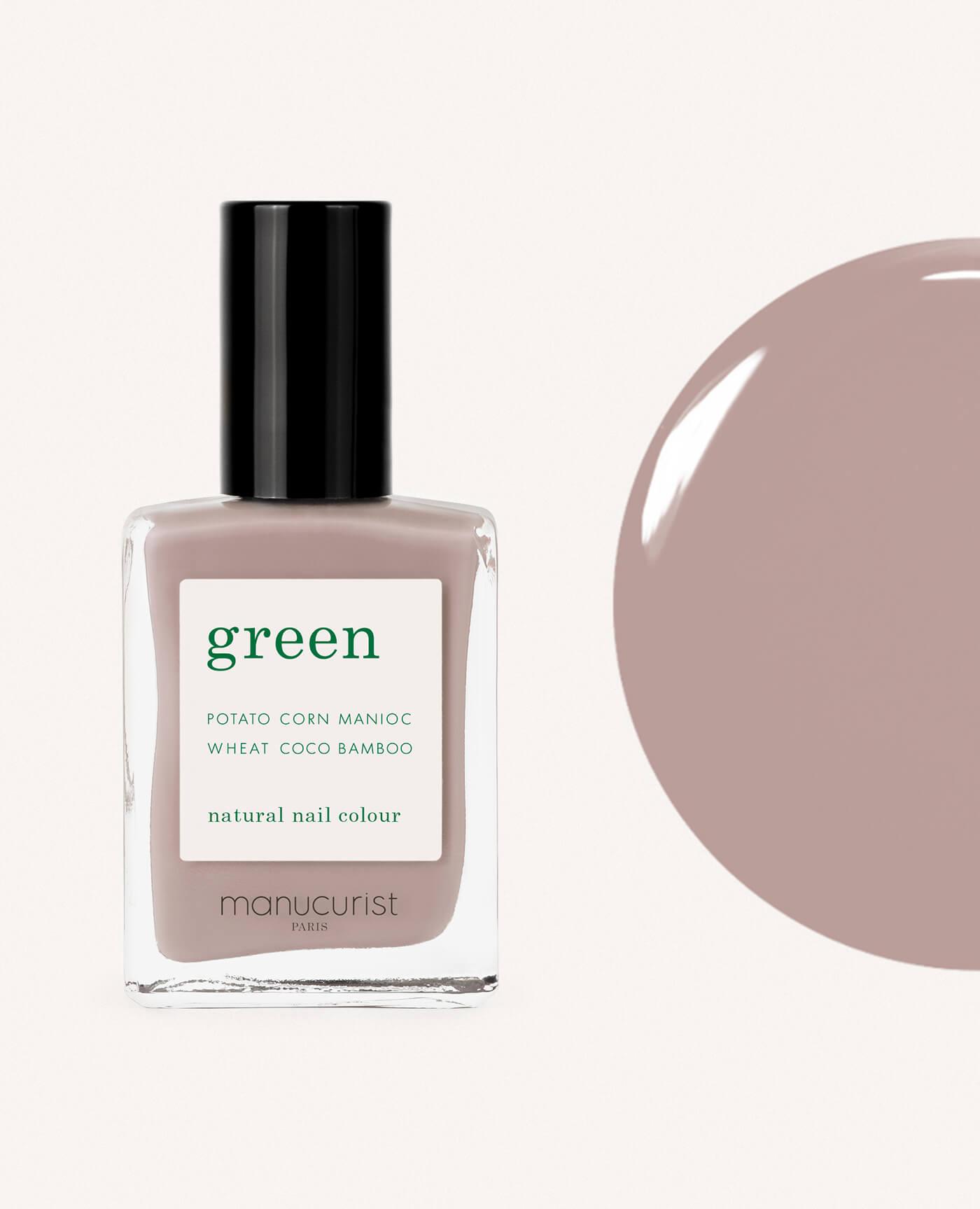 vernis à ongles bio green de la marque Manucurist made in france de couleur dove beige