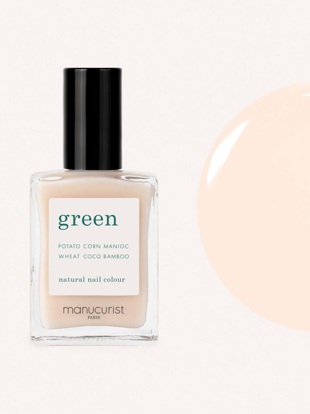 vernis à ongles bio green de la marque Manucurist made in france de couleur nude
