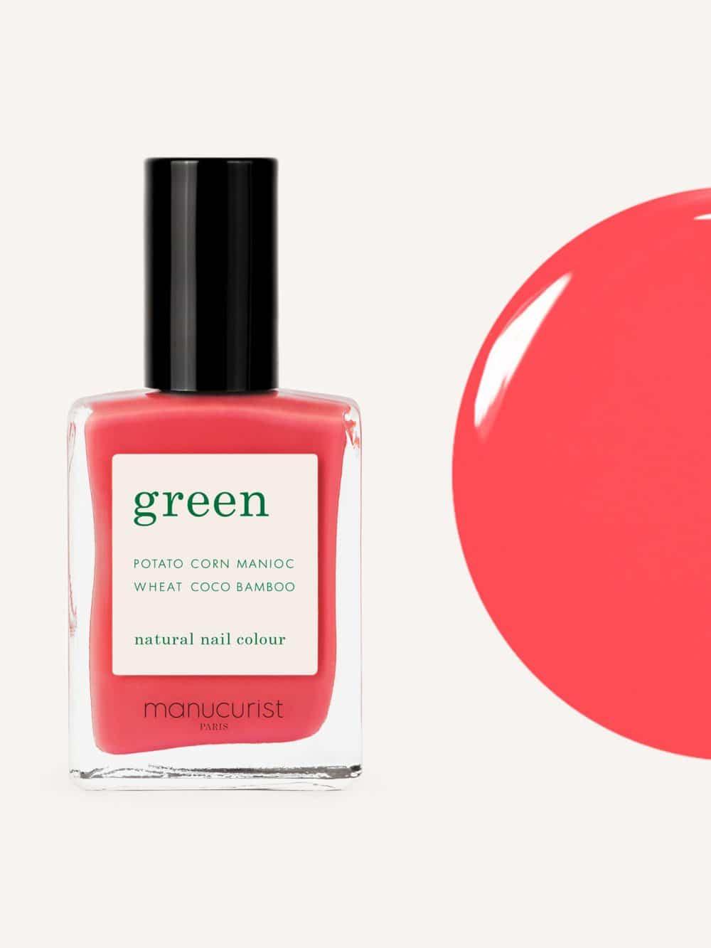 vernis à ongles bio green de la marque Manucurist made in france de couleur rose azalea