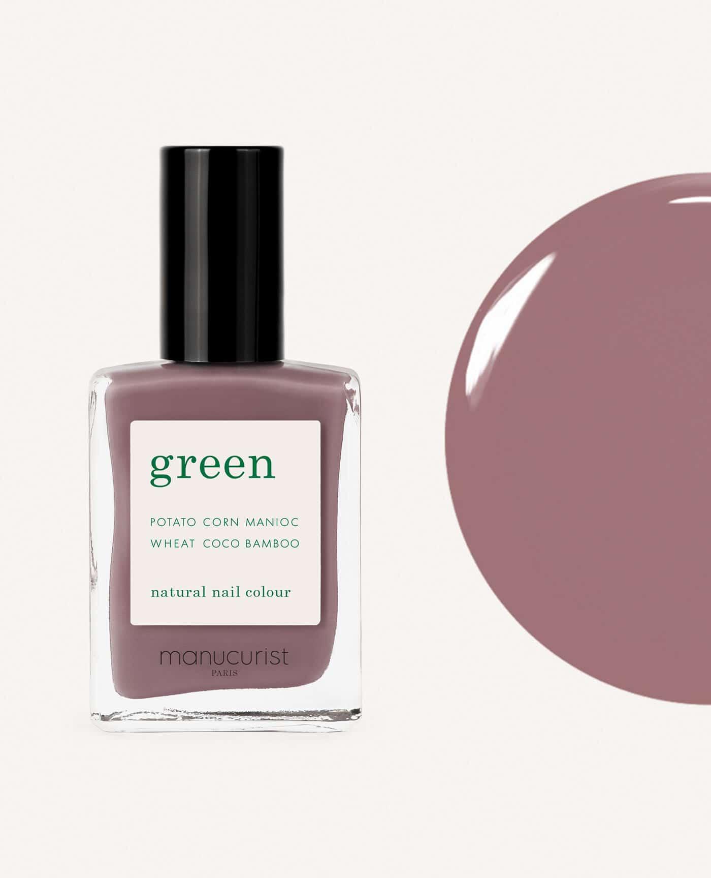 vernis à ongles bio green de la marque Manucurist made in france de couleur rose mountbatten
