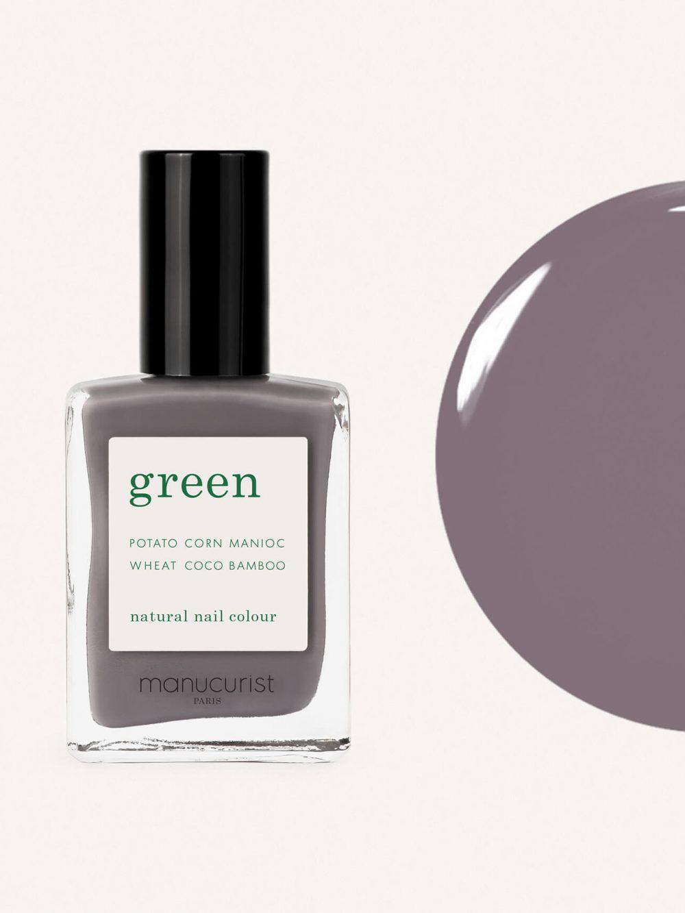 vernis à ongles bio green de la marque Manucurist made in france de couleur taupe slate