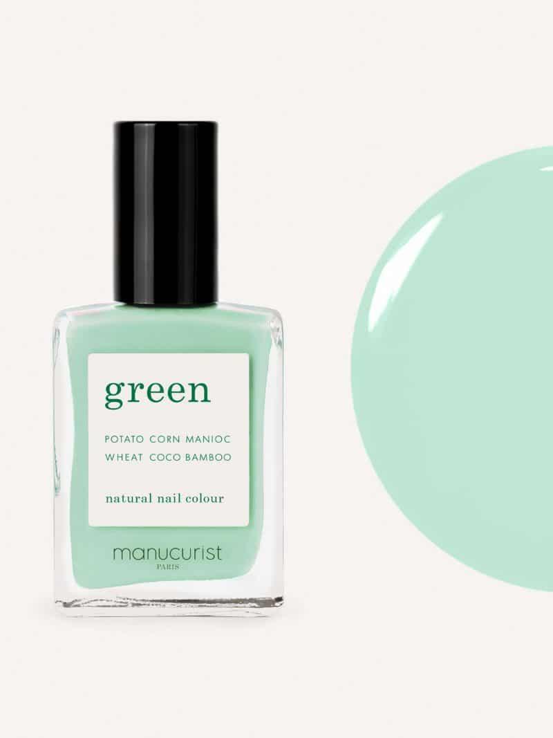 vernis à ongles bio green de la marque Manucurist made in france de couleur vert mint