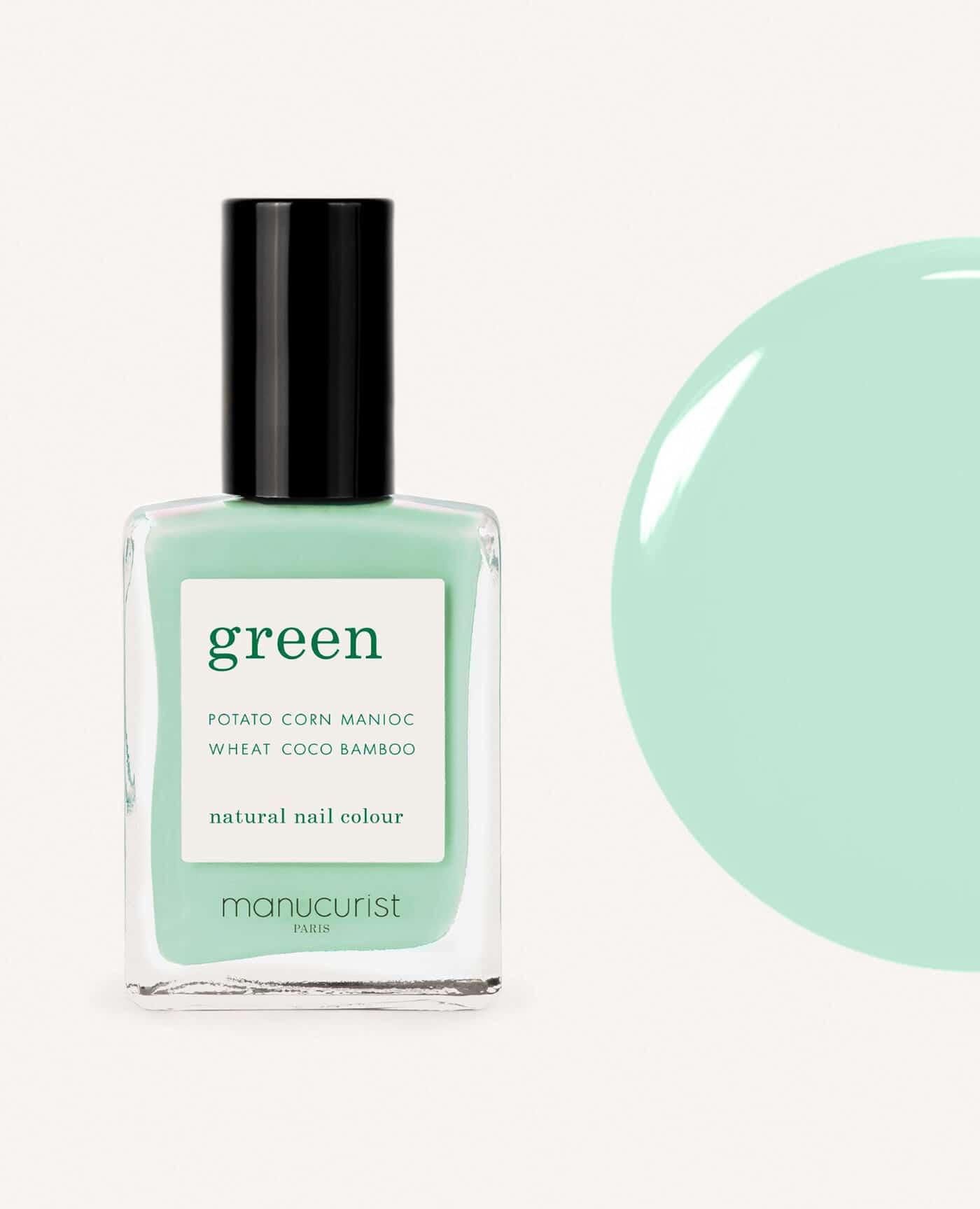 vernis à ongles bio green de la marque Manucurist made in france de couleur turquoise mint