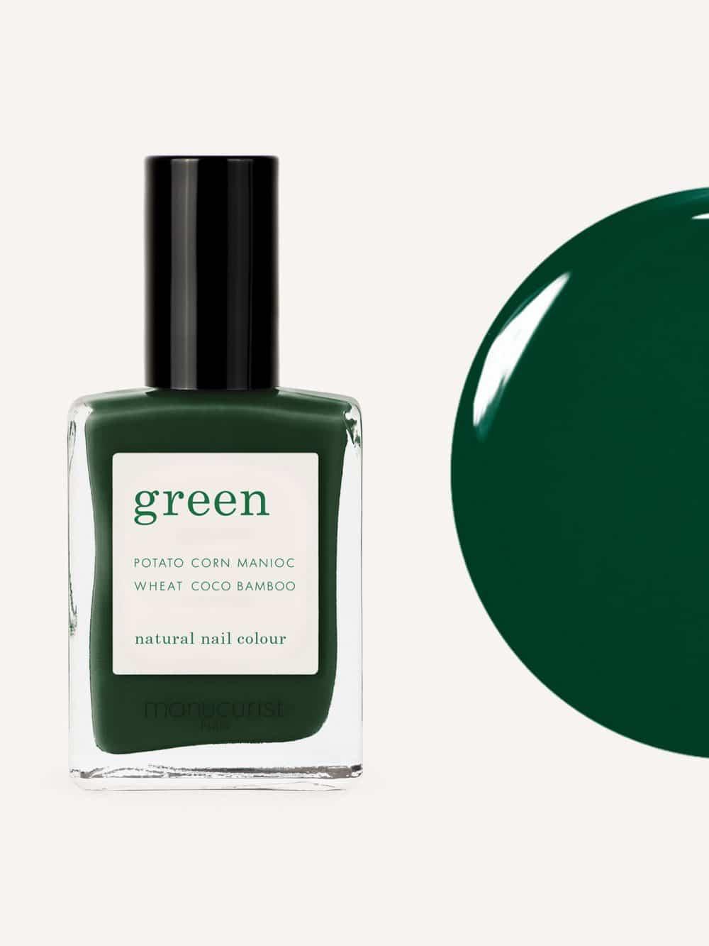 vernis à ongles bio green de la marque Manucurist made in france de couleur vert emerald