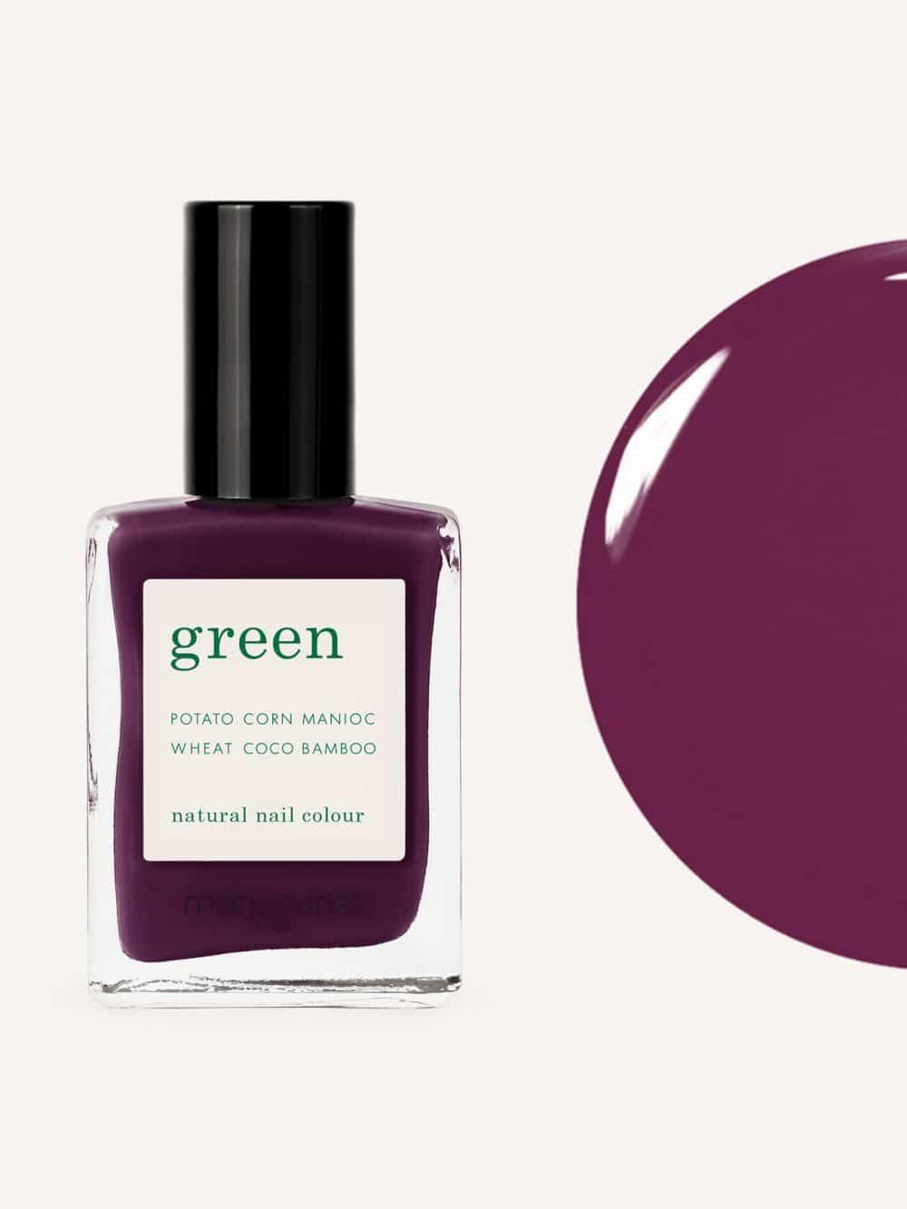vernis à ongles bio green de la marque Manucurist made in france de couleur violet purple spinel